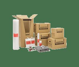 Range of moving boxes and packing materials at Shurgard