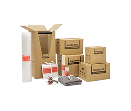 Range of moving boxes and packing materials at Shurgard