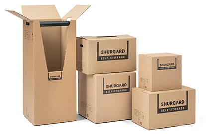Range of moving boxes