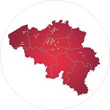 Vestigingen van Shurgard in België