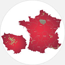 Shurgard locations in France